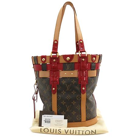 Louis Vuitton(루이비통) 한정판 M95613 모노그램 캠버스 루비 살리나 네오 버켓 PM 숄더백