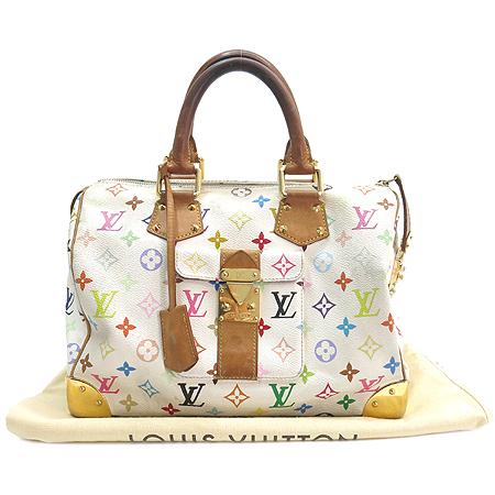 Louis Vuitton(루이비통) M92643 모노그램 멀티컬러 화이트 멀티스피디 30 토트백 [강남본점]