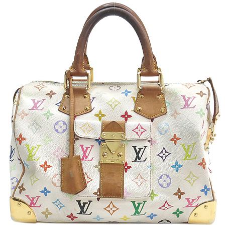 Louis Vuitton(루이비통) M92643 모노그램 멀티컬러 화이트 멀티스피디 30 토트백 [강남본점] 이미지2 - 고이비토 중고명품