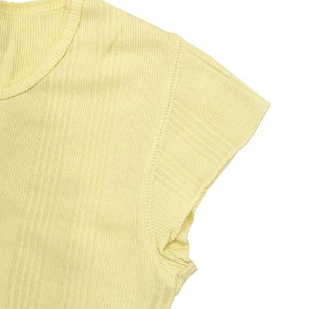 Earl Jean(얼진) 옐로우컬러 반팔 티 이미지3 - 고이비토 중고명품