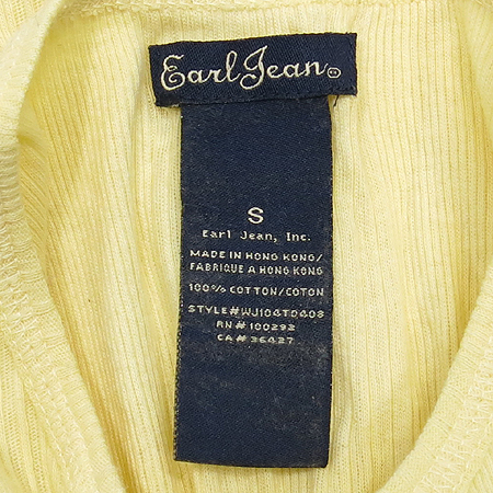 Earl Jean(얼진) 옐로우컬러 반팔 티
