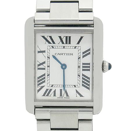 Cartier(까르띠에) W5200014 탱크 솔로 스틸 남성용 시계+DD클립 가죽밴드 [명동매장] 이미지2 - 고이비토 중고명품
