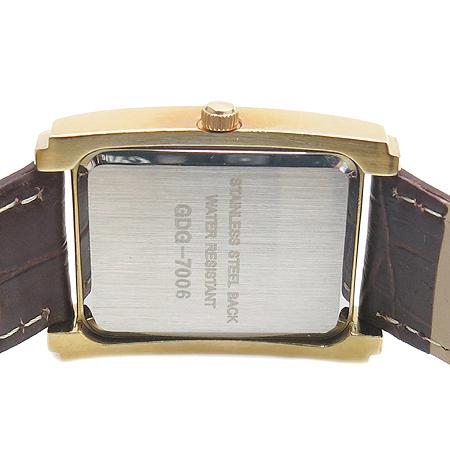 DAKS(닥스) GDF7006 금장 사각 프레임 가죽 밴드 남성 시계