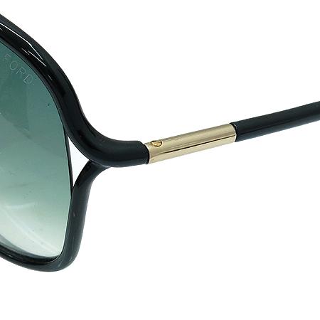 TOMFORD(톰포드) TF184 01B 측면 금장 장식 블랙 뿔테 선글라스