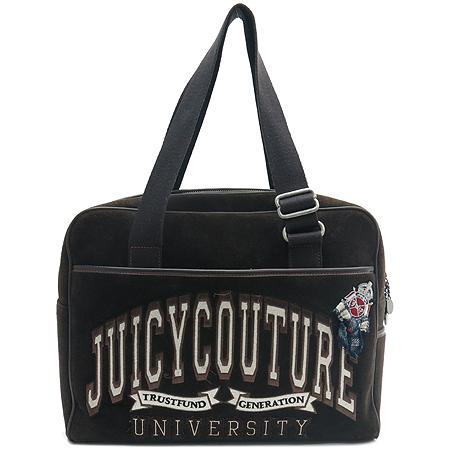 JUICY COUTURE (쥬시 꾸띄르) 브라운 스웨이드 노트북 케이스 숄더백 + 파우치