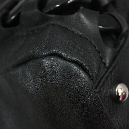 Chanel(샤넬) 블랙 레더 COCO로고 럭셔리바이 숄더백 [명동매장]