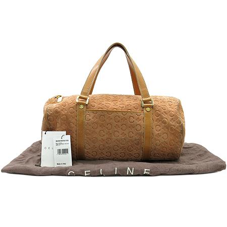 Celine(셀린느) 스웨이드 로고 원통 토트백