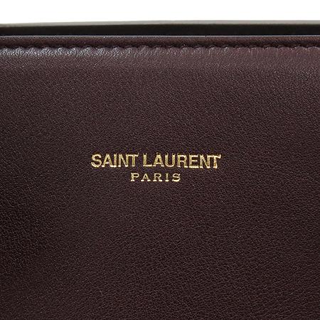 SAINT LAURENT PARIS(생로랑파리) 324823 버건디 레더 드쥬르 토트겸 숄더백 [명동매장]