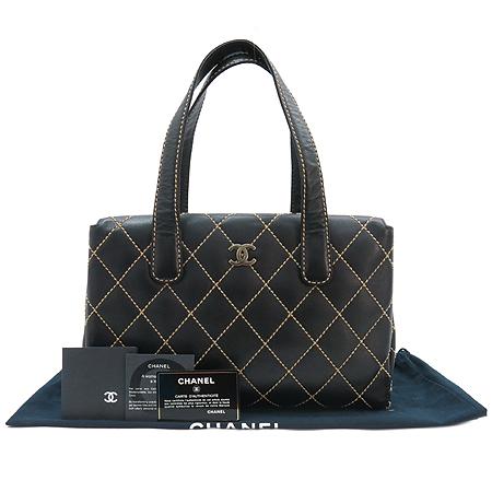 Chanel(샤넬) A16799Y01298 와일드 스티치 블랙 레더 토트백