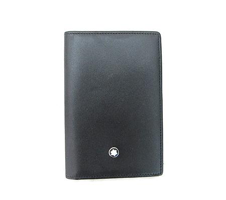 Montblanc(몽블랑) 14108 블랙 레더 카드 겸 명함 지갑