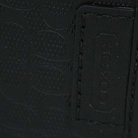 Coach(코치) F74549 시그네처 PVC 블랙 레더 반지갑