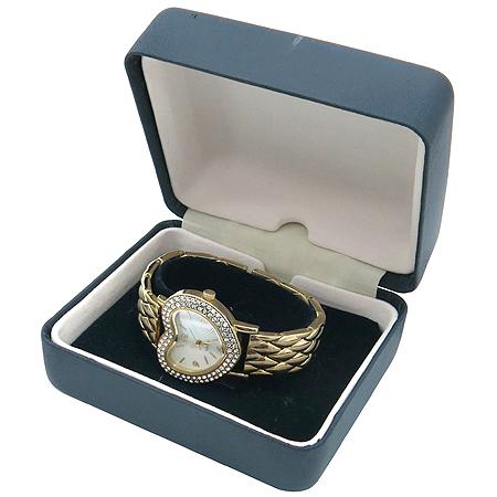 Agatha(아가타) 크리스탈 하트 장식 자개판 다이얼 금장 여성 시계 이미지2 - 고이비토 중고명품