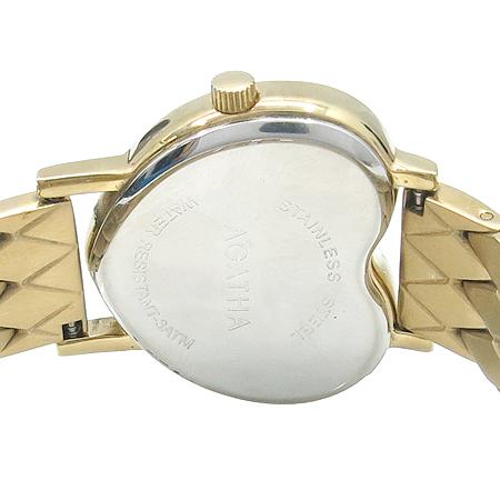 Agatha(아가타) 크리스탈 하트 장식 자개판 다이얼 금장 여성 시계 이미지6 - 고이비토 중고명품