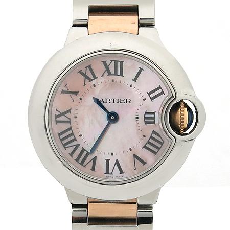 Cartier(까르띠에) W6920034 발롱블루 로즈골드 콤비 자개판 다이얼 S 사이즈 여성용 시계