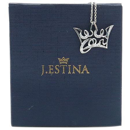 J.ESTINA(제이에스티나) 925(실버) 티아라 크리스탈 장식 목걸이