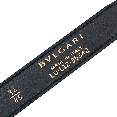 Bvlgari(불가리) 35342 스네이크 Double Coiled (더블 스트랩) 블랙 레더 여성 벨트
