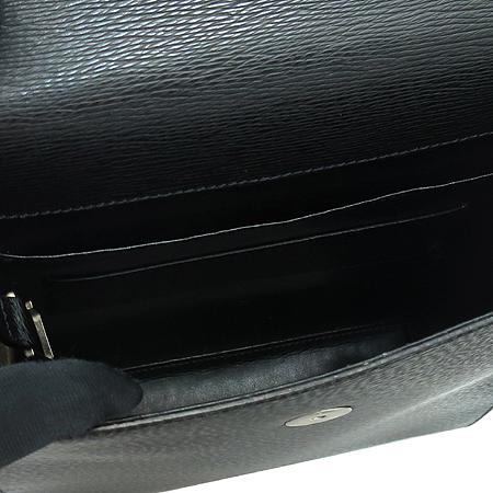 Dupont(듀퐁) 실버 메탈 로고 블랙 레더 메신저 크로스백 이미지6 - 고이비토 중고명품