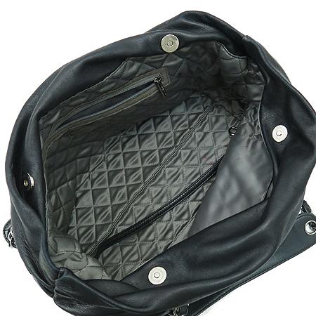 Chanel(샤넬) COCO 로고 럭셔리 바이 블랙 램스킨 레더 실버 메탈 체인 숄더백 [강남본점] 이미지6 - 고이비토 중고명품