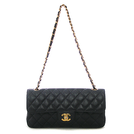 Chanel(샤넬) 캐비어 스킨 클래식 S 사이즈 금장 체인 숄더백