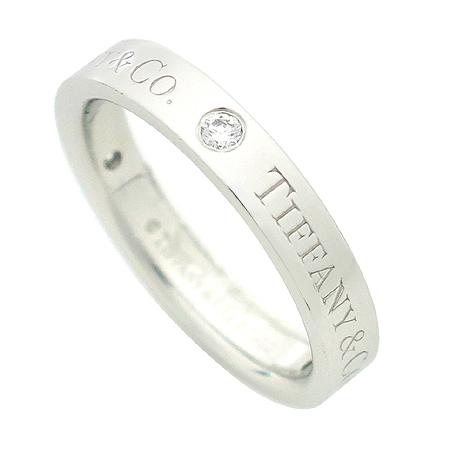 Tiffany(티파니) PT950(플래티늄) Tiffany&Co 로고 3포인트 다이아 반지 - 8호 [명동매장]