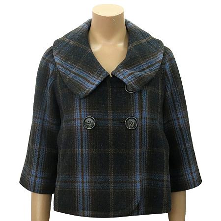 OLIVE DES OLIVE(올리브데스올리브) 레드디시 브라운&블루 컬러 숏 자켓