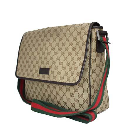 Gucci(구찌) 233052 GG 로고 자가드 삼색 스티치 크로스백 [명동매장]