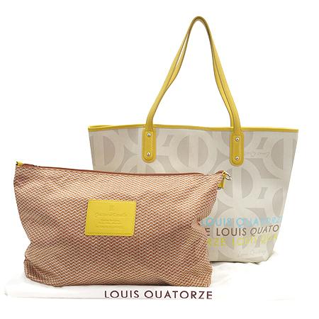 Louis_Quatorze(루이까또즈) 로고 PVC 쇼퍼 숄더백 + 보조 파우치