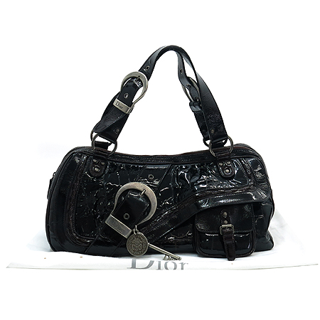 Dior(크리스챤디올) CPP44937 크로커다일 패턴 페이던트 가우쵸 토트백