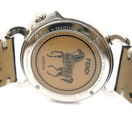 Fendi(펜디) 셀러리아 8100M 베젤 다이아 자개판 가죽 밴드 남여공용 시계 [부산센텀본점]