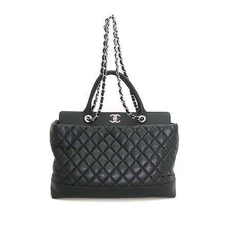 Chanel(샤넬) A66814 포르토벨로 라인 블랙 퀼팅 레더 은장 체인 2WAY