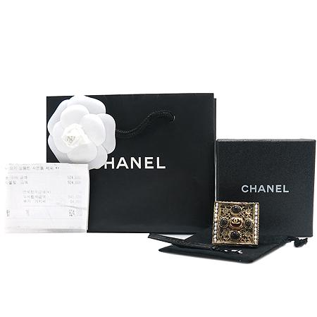 Chanel(샤넬) 11A A45513Y94862 빅 사각 프레임 금장 장식 반지-12호