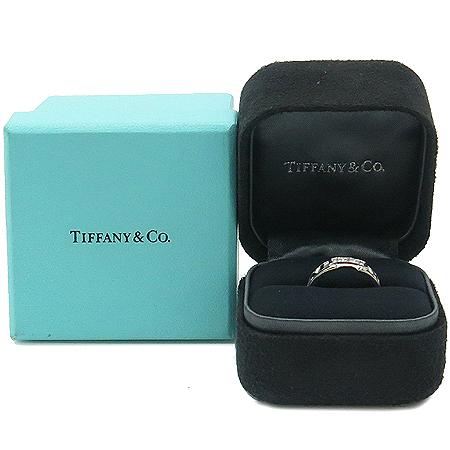Tiffany(티파니) 25097823 18K 화이트 골드 아틀라스 3포인트 다이아 반지-15호