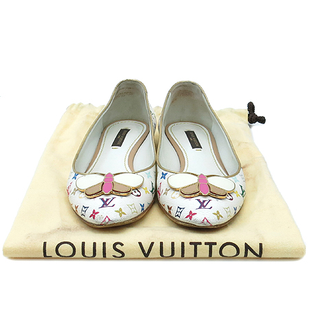 Louis Vuitton(루이비통) 화이트 멀티 Butterfly 플랫 슈즈