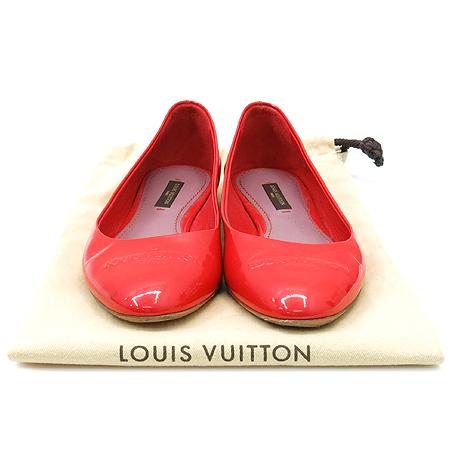 Louis Vuitton(루이비통) 이니셜 로고 레드 레더 페이던트 플랫 슈즈 [동대문점]