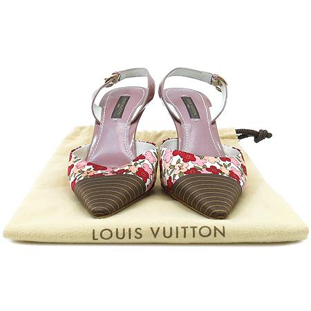 Louis Vuitton(루이비통) 무라카미 플라워 로고 패브릭 레더 슬링백 구두