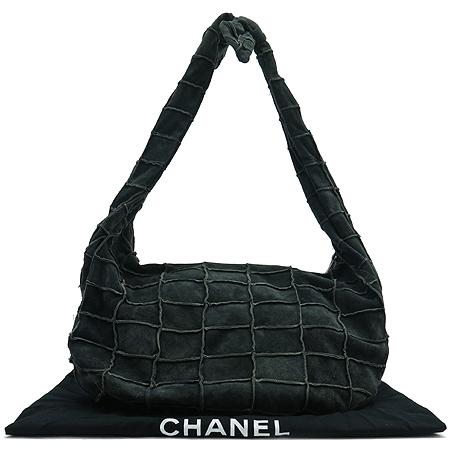 Chanel(샤넬) 다크그레이 스웨이드 호보 숄더백
