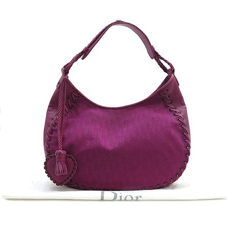 Dior(크리스챤디올) 로고 자가드 레더 누빔 호보 숄더백