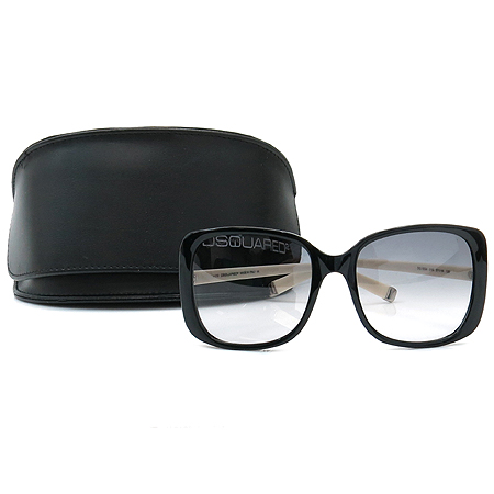 DSQUARED2(디스퀘어드2) DQ0034 01B 측면 이니셜 선글라스
