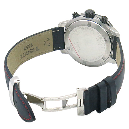 TISSOT(티쏘) T067.417 PRS200 크로노그래프 가죽 밴드 남성용 시계