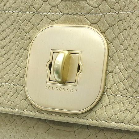 Long Champ(롱샴) 2011 290 005 게츠비(GATSBY)브라운 레더 뱀피 페턴 금장 로고 숄더백