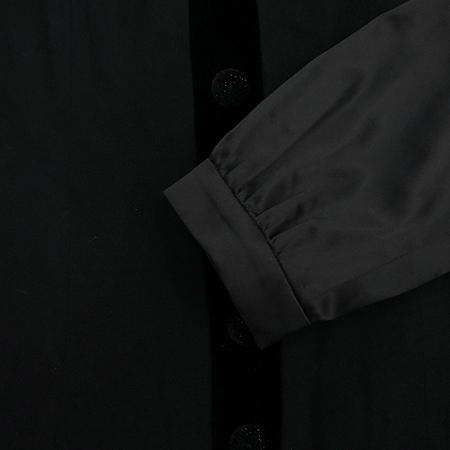 SATIN(사틴) 리본장식 블랙컬러 원피스 (배색:실크)