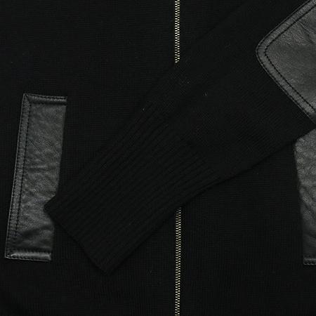 DKNY(도나카란) 블랙컬러 가죽 견장 집업 점퍼