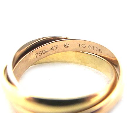 Cartier(까르띠에) B4086147 18K 삼색 골드 트리니티 반지-7호 [분당매장] 이미지3 - 고이비토 중고명품