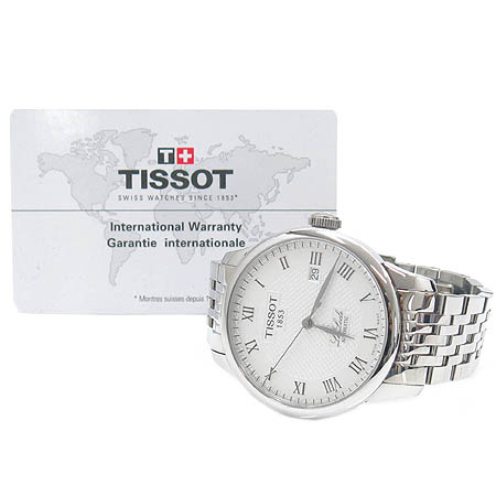 TISSOT(티쏘) T41.1.483.33 르로끌(Le Locle) 시스루백 오토매틱 스틸 남성용 시계 [명동매장]