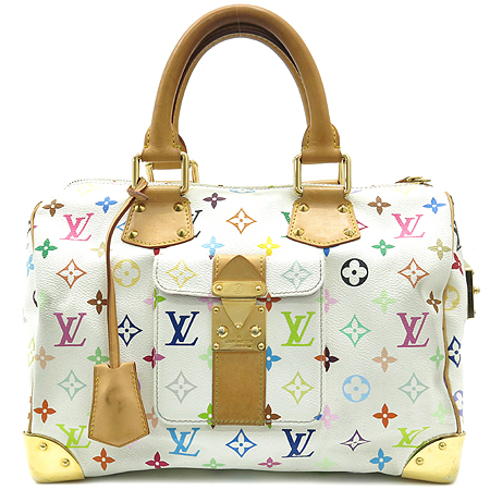 Louis Vuitton(루이비통) M92643 모노그램 멀티 화이트 스피디30 토트백 이미지2 - 고이비토 중고명품