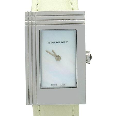 Burberry(버버리) BU4102 자개판 사각 펜던트 가죽 밴드 여성용 시계