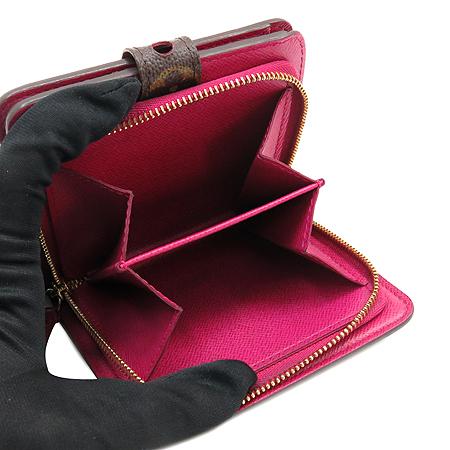 Louis Vuitton(루이비통) M95188 모노그램 퍼포 짚 컴팩트 월릿 핫핑크 반지갑 [명동매장]