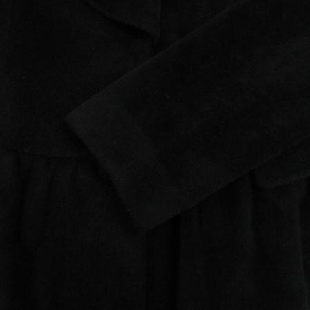 RENEEVON(레니본) 블랙컬러 앙고라 코트 (배색:실크100)