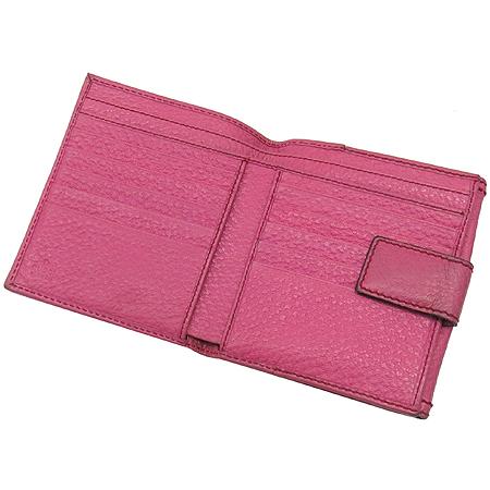 Gucci(구찌) 138035 뱀부 장식 핑크 레더 반지갑
