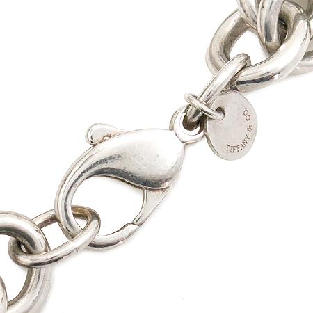 Tiffany(티파니) 925(실버) 원석 장식 체인 팔지